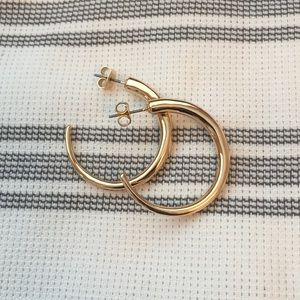 Gold hoop earrings brand new